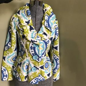 3 Sisters Cotton Jacket Blazer Lined Floral Print